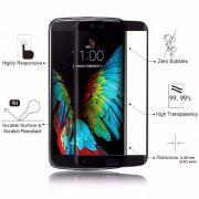 Película de vidro com Bordas para LG K10 K430 - Preta