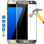 Película de Vidro Temperado Premium Curvada com Borda para Galaxy S7 Edge - Cor Chumbo