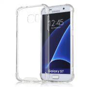 Capa Fusion Shell Anti-Impacto para Galaxy S7 Edge - Cor Transparente