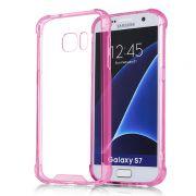 Capa Fusion Shell Anti-Impacto para Galaxy S7 Edge - Cor Rosa