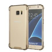 Capa Fusion Shell Anti-Impacto para Galaxy S7 Flat- Cor Dourada