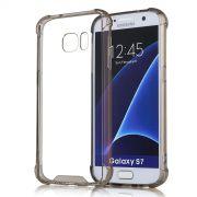 Capa Fusion Shell Anti-Impacto para Galaxy S7 Flat- Cor Grafite