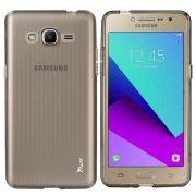 Kit 2 em 1 Película de Vidro Premium e Capa Anti Impacto Grafite para Samsung Galaxy J2 Prime