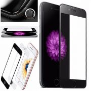 Película de vidro Premium com bordas 3D para Apple iPhone 6/6S (4.7) - Bordas Preta