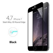 Película de vidro Premium com bordas 3D para Apple iPhone 7 (4.7) - Bordas preta