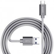 Cabo USB C 3.0 Type C Premium Nylon com Fios de cobre 1m para Samsung Galaxy S8