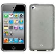 FlexiShield Plus - Capa de silicone TPU Premium + Película protetora para Apple iPod touch 4G = Cor Fumê