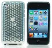 FlexiShield Plus - Capa de silicone TPU Premium + Película protetora para Apple iPod touch 4G = Cor Transparente