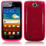 Capa TPU Premium para Samsung Galaxy W GT-I8150 - Cor Rosa