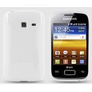 Capa TPU Premium + Película protetora para Samsung Galaxy Y Duos GT-S6102  - Cor Transparente