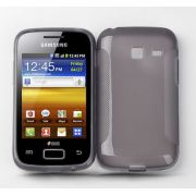 Capa TPU Premium + Película protetora para Samsung Galaxy Y Duos GT-S6102 - Cor  Grafite