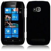 Capa de silicone Premium para Nokia Lumia 710 = Cor Preto