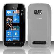 Capa TPU Premium + Película protetora para Nokia Lumia 710 - Cor Transparente