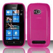 Capa TPU FlexiShield para Nokia Lumia 710 - Cor Rosa