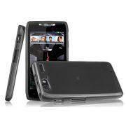FlexiShield Plus - Capa de TPU Premium + Película fosca Protetora para Motorola Razr XT910 - Cor Preta Grafite