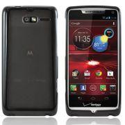 Capa Tpu Flexishield + Películas protetora  transparente para para Motorola Razr i XT890