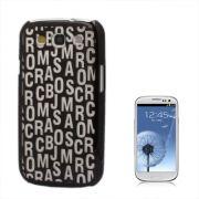 Capa Personalizada Série Alfabeto para Samsung Galaxy S3 S III i9300 - Preto