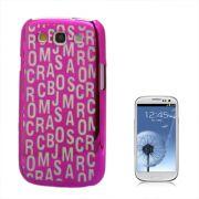 Capa Personalizada Série Alfabeto para Samsung Galaxy S3 S III i9300 - Rosa