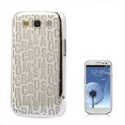 Capa Personalizada Série Alfabeto para Samsung Galaxy S3 S III i9300 - Prata
