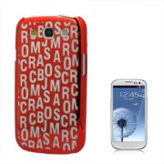 Capa Personalizada Série Alfabeto para Samsung Galaxy S3 S III i9300 - Vermelha