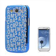 Capa Personalizada Série Alfabeto para Samsung Galaxy S3 S III i9300 - Azul