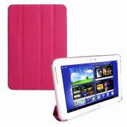 Capa Smart Cover Dobrável para Samsung Galaxy Note 10.1 N8000 / N8100 - Cor Rosa