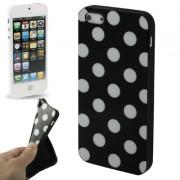Capa Personalizada Bolinhas para Apple iPhone 5 - Preto/Branca
