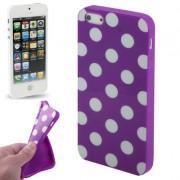 Capa Personalizada Bolinhas para Apple iPhone 5 - Roxa