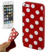 Capa Personalizada Bolinhas para Apple iPhone 5 - Vermelha