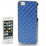 Capa Luxo Fashion com Strass para Apple iPhone 5 - Azul