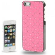 Capa Luxo Fashion com Strass para Apple iPhone 5 - Rosa