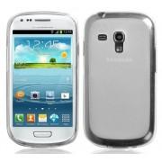 Capa de TPU Premium + Película Protetora Transparente para Samsung Galaxy S III Mini I8190 - Transparente