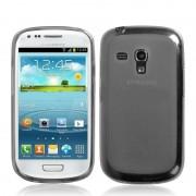 Capa de TPU Premium + Película Protetora Fosca para Samsung Galaxy S III Mini I8190 - Grafite