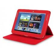 Capa couro Smart Cover para Samsung Galaxy Note 10.1 N8000 / N8100 - Cor Vermelho