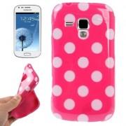 Capa fashion design Bolinhas para Samsung Galaxy S Duos S7562 - Rosa Pink