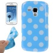 Capa fashion design Bolinhas para Samsung Galaxy S Duos S7562 - Azul