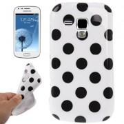 Capa fashion design Bolinhas para Samsung Galaxy S Duos S7562 - Branca
