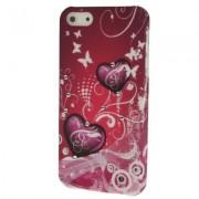 Capa Personalizada Corações com Strass para Apple iPhone 5