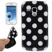 Capa fashion design Bolinhas para Samsung Galaxy S Duos S7562 - Preta