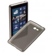 Kit Capa de TPU Premium + Película Transparente para Nokia Lumia 820 - Cor Grafite