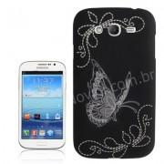 Capa Personalizada Borboletas para Samsung Galaxy Grand Duos I9082 - Preta