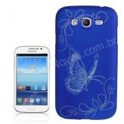 Capa Personalizada Borboletas para Galaxy Grand Duos I9082 - Azul