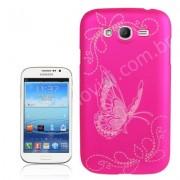 Capa Personalizada Borboletas para Samsung Galaxy Gran Duos I9082 - Rosa