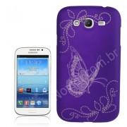 Capa Personalizada Borboletas para Samsung Galaxy Grand Duos I9082 - Roxa