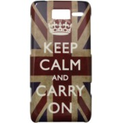 Capa personalizada Keep Calm and Carry Inglaterra Motorola Razr D1 XT918