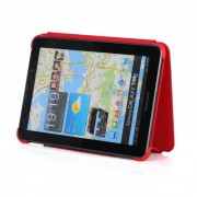 Capa Book estojo para Samsung Galaxy Tab 7.7 GT-P6800 - Cor Vermelha