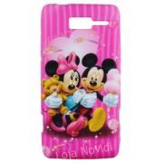 Capa fashion personalizada Minnie e Mickey para Motorola Razr i XT890