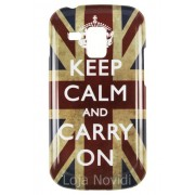 Capa personalizada Keep Calm and Carry Inglaterra para Samsung Galaxy S Duos S7562