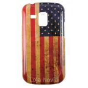 Capa colorida série Bandeira envelhecida USA para Samsung Galaxy S Duos S7562