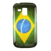 Capa colorida série Bandeira Brasil para Samsung Galaxy S Duos S7562